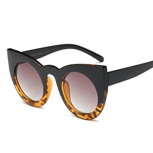 TUDUZ Unisex Vintage Retro Brille Mode Aviator Spiegel Objektiv Sonnenbrille für Damen Herren (C)