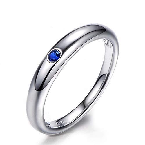 Anello fidanzamento donna argento 925 blu zirconi fedine fidanzamento semplici misura 15