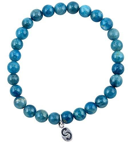 apoccas-halb-edelstein-armband-agni-apatit-blau-grun-6-mm-kugelgrosse-sterling-silber-anhanger-damen