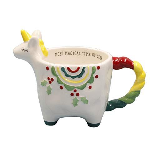 Handgezeichnete 3D Wolke Einhorn Becher Keramik Kaffeetasse Tasse