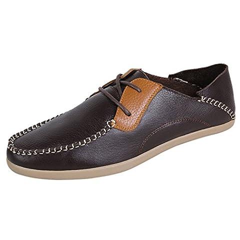 WALK-LEADER , Chaussures de ville à lacets pour homme - marron - marron foncé, 44.5