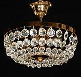 Deckenleuchter Ø30cm 3-flammig gold Lampe Deckenlampe