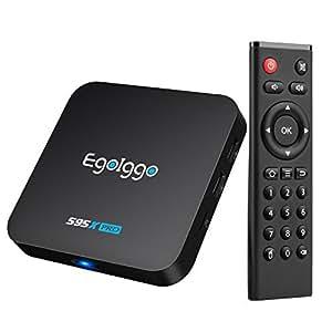 [2GB/16GB/S905X] Android TV Box EgoIggo S95X Pro Android Box Amlogic S905X Quad-Core 2GB RAM + 16GB ROM Cortex-A53 Smart TV box Android Box supporto ultra 4K Nero