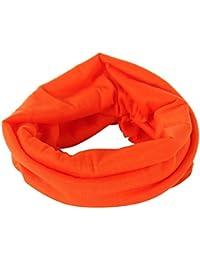 Orangenes leichtes Schlauchtuch Multifunktionstuch Halstuch Multischal Schlauchschal