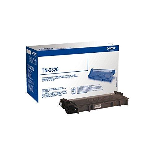 Preisvergleich Produktbild 1x Original Brother Toner TN2320 TN 2320 für Brother HL-L 2340 DW - BLACK + 500 Blatt Ti-Sa Kopierpapier 80g weiß - Leistung ca. 2600 Seiten/5%