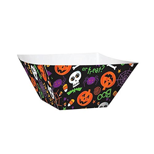 Halloween Party Snack Bowl (Pack of 3), Black, 2 3/4 H x 6 3/4 W x 6 3/4 D ()