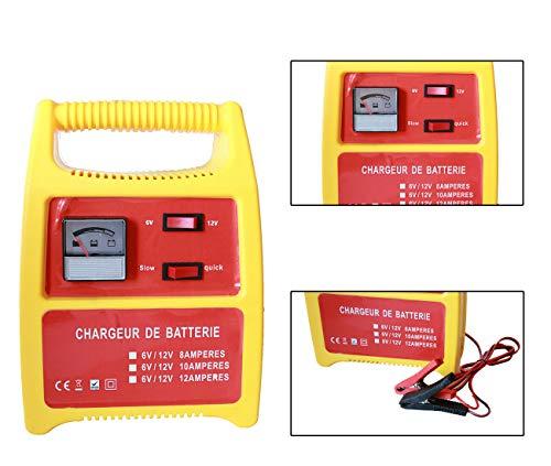 Topolenashop Caricabatteria Auto 12v Moto 6v Carica batterie 8-12a accesori 6v 12v fy-707