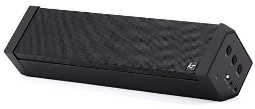 KitSound BoomBar 2 Portable Rechargeable Stereo Bluetooth Wireless Sound System Compatible with Smartphones, Tablets and MP3 Devices – Black