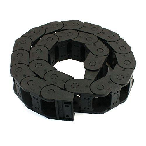 sourcingmap® 110cm de long en plastique Machine Corde chaîne Frein Noir 25mm x 38mm