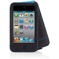 Belkin F8Z673cw Custodia Verve Folio per iPod touch 4G,  custodia in pelle, rivestimento in microfibra contro graffi, accesso a tutti i comandi e alla porta di ricarica, tasca multifunzionale, nero con finiture blu