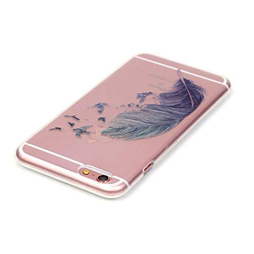 Beiuns coque en silicone pour Apple iPhone 6 (4,7 pouces) Housse Coque - N183 Plume au vent N183 Plume au vent
