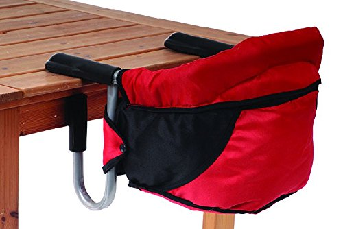 Tischsitz Kind Kleinkind Baby Babysitz Haberkorn Rot-Schwarz