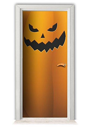 Halloween Kuerbis - Türaufkleber Möbelaufkleber Wandtattoo Kühlschrankaufkleber bekleben (Halloween Für Zeugs)
