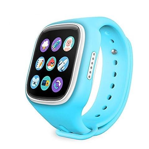 Kinder Smartwatch, AnGeer K6 Kinder Anti-verlorene Smart Watch mit GPS Tracker-Blau (Gps Tracker Für Kinder)