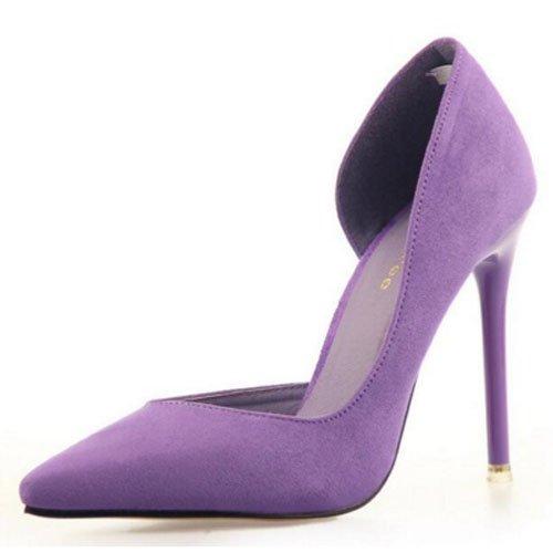 FLYRCX In stile europeo semplice moda punta tacco sottili tacchi alti scarpe di partito G
