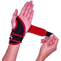 Handgelenk-Bandage mit Daumenoese und Klettverschluss zur Stabilisierung und Schmerzlinderung Schwarz-Rot preisvergleich bei billige-tabletten.eu