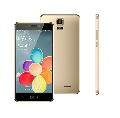 "TEENO® A9 Plus 6"" HD Debloqué Smartphone téléphone Portable 13.0MP+8.0MP caméra Android Mobilephone D'or"