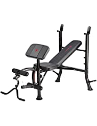 Marcy BE1000 Eclipse Banc de musculation Noir/rouge