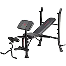 Marcy Eclipse BE1000 Barbell Weight Bench - Black/Red