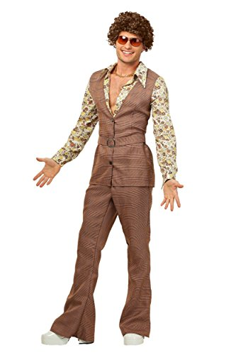 Men's Plus Size 70's Vest Fancy Dress Costume 3X