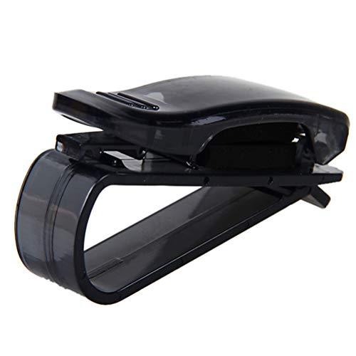 LIOOBO 2 STÜCKE brillenhalter Auto Sonnenblende Auto Visier Brille Clip Halter rechnung notizkarten lagerung Auto Auto zubehör (schwarz)