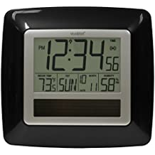 La Crosse Technology WT-8112U-BK Solar Atomic Digital Clock with Indoor Temperature, Humidity by La Crosse Technology