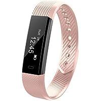 Dieron Unisex Waterproof Digital Display Buckle Closure Smart Bracelet Health Wristband Heart Rate Monitors