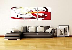 Galerie d'art de toile-Large Toile mur peinture abstraite de l'art, Lot de 3 (20 * 20inch) Pret a accrocher # 11-42