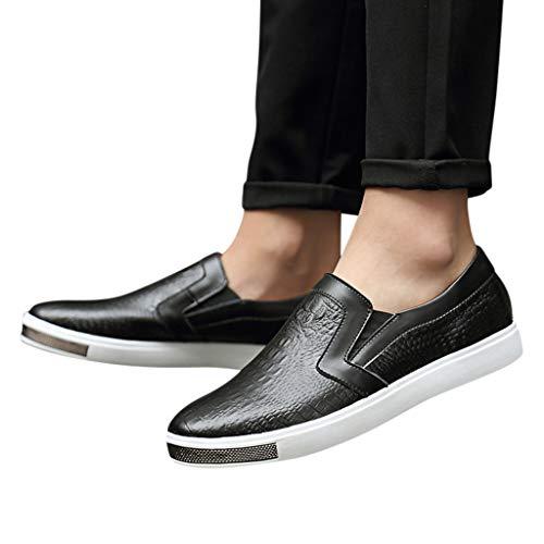 Yearnly China Bootsschuhe für Herren rutschfeste, einfarbige, weiche, lässige Business-Schuhe mit geringem Gewicht zum Atmen EU-Größe 38-44
