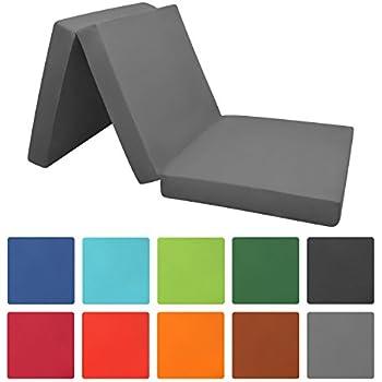 g stematratze futon aus kaltschaum 3 teilige klappmatratze mit bezug abnehmbar 80x200 h10. Black Bedroom Furniture Sets. Home Design Ideas