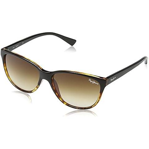 Pepe Jeans - Gafas de sol Oversized PJ7192 C1 Rona, Black/Tort/Brown Grad Lens