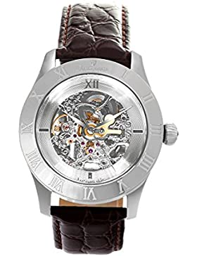 Continuum Herren-Armbanduhr Automatik Analog Skelettuhr Leder Braun - CO15007