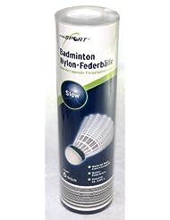 Pour sport lot de 12 volants de badminton en nylon, ressort balles, slow avec boîte