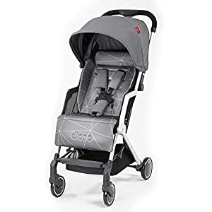 Diono Traverze Travel Stroller, Grey Linear   5