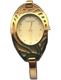 L''Femmes Fontenay montre à quartz analogique plaqué or 18 carats semi-rigide Bangle Watch