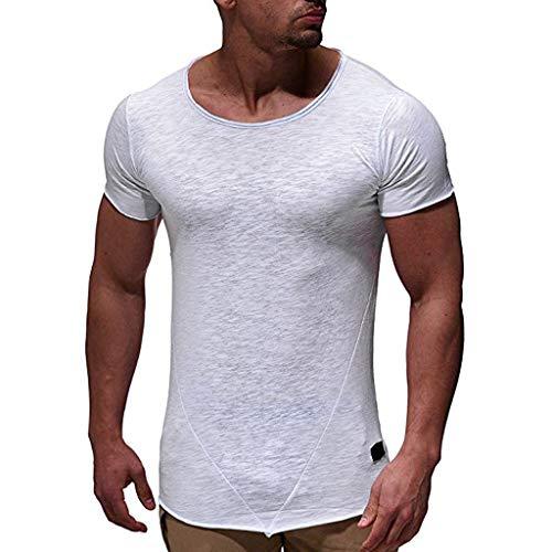 VENMO T-shirt Neu Herren T-Shirt Shirt Kurzarm Casual Top Slim Fit Kurzarmshirt Print Sommer Moderner MäNner Vintage Basic Classics Blouse Einfarbig Tops ()