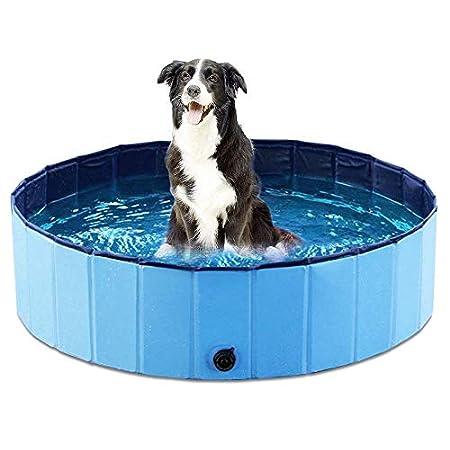 Hundepool Schwimmbad Für Hunde und Katzen, Hund Planschbecken Hundebadewanne Faltbarer Pool Haustier Pool Planschbecken…