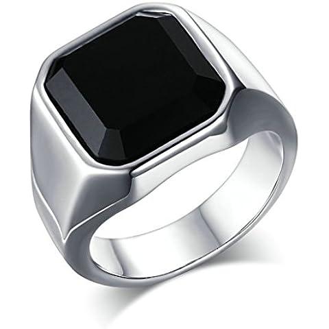 Alimab gioielli anelli Acciaio inossidabile uomini Banda nozze liscio Piazza