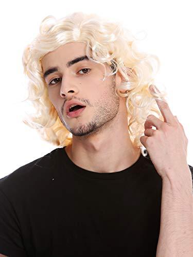 Preisvergleich Produktbild Wig me up - 3750-P88-P88 Perücke Herrenperücke Unisex Blond leicht gelockt Mittelscheitel Alter Schlagersänger Gigolo 70er & 80er Jahre