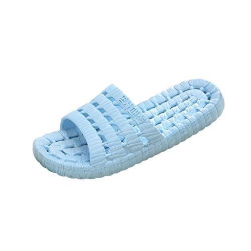 QinMM Homme Femme Tongs Pantoufle Couleur de Bonbon Confortable Mode Été, Décontractée Sandales Antidérapant Massage Chaussons Flip-Flops Bleu ciel