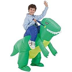 Disfraz Hinchable de Domador montando T-Rex para niños
