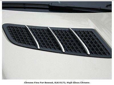 Preisvergleich Produktbild Mercedes R172 SLC Chrome Bonnet fins Chrome Hood fins SLC200 SLC250 SLC300 SLC43