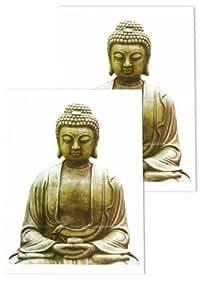 Stickers deco vitres bouddha kamakura 33 x 45 cm