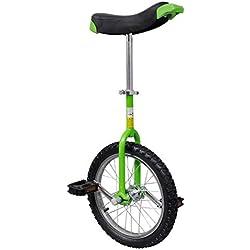 vidaXL Monocycle ajustable vert 16 pouces pour enfants Monocycles Débutants