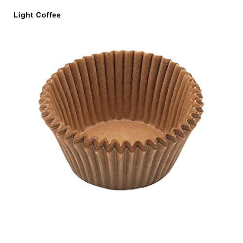 100 Stück Muffinförmchen aus Papier, Mini Cup Cake Cases, Mini-Papierförmchen(Braun)