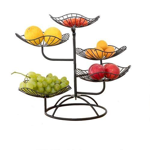 Lifesongs Obstschale Metall, Für Mehr Platz Auf Der Arbeitsplatte - Etageren Mit Obstschalen - Dekorativer Obstkorb