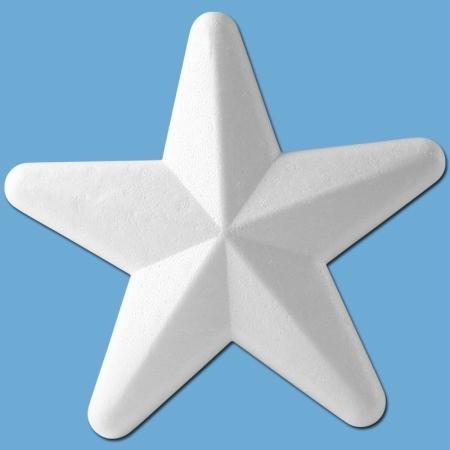 Rayher 3304800 Styropor-Stern, 20 cm