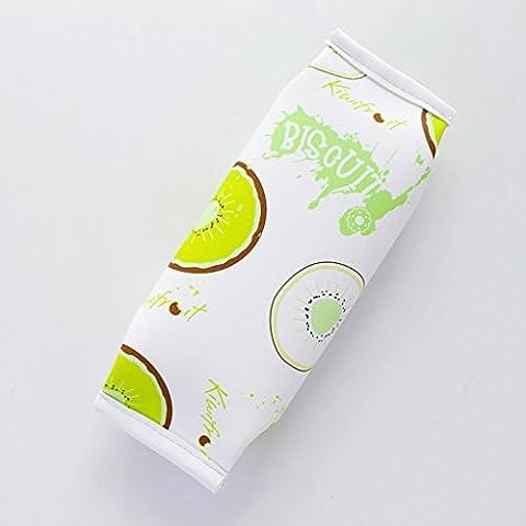 Pelle cancelleria creativa di frutta carino Snack Borse Student Pencil Bag PU Fun grande capacità della penna ( colore : Kiwi ) - Frutta Cancelleria
