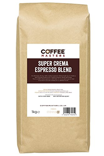 Coffee Masters Super Crema Espresso Coffee Beans 1kg 41mKILwWxiL