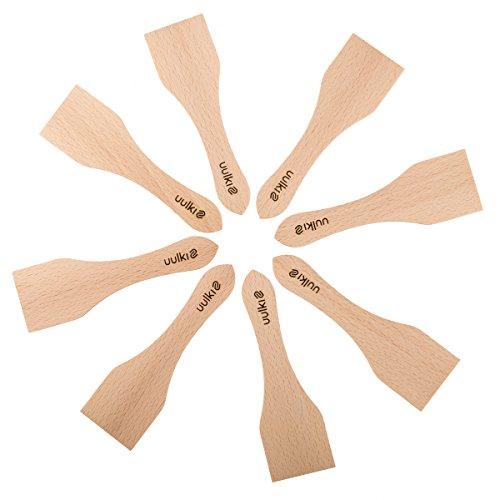 10 X 13 Holzkohle (Uulki Raclette Schieber Spachtel Set aus Holz 8 Stück - Racletteschieber Schaber - Umweltfreundlich, gefertigt in Europa - kleine Pfannenwender für Grill, Käse, Ofen.)